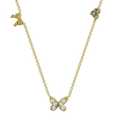 Κολιέ Με Πεταλουδίτσα Από Κίτρινο Χρυσό Κ9 KL95619