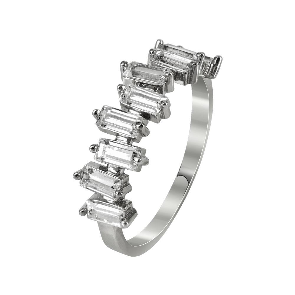 Σειρέ Δαχτυλίδι Κ14 Από Λευκόχρυσο DX94636