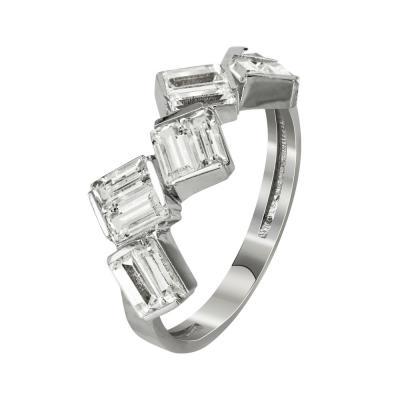 Σειρέ Δαχτυλίδι Από Λευκόχρυσο Κ14 DX94684 611bd4dee6a