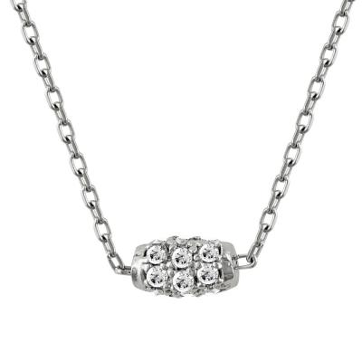 Κολιέ Με Πέτρες Από Λευκόχρυσο K14 KL81294
