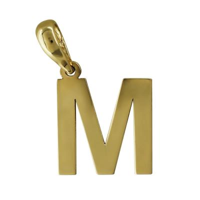 """Μονόγραμμα Μενταγιόν """"Μ"""" Από Κίτρινο Χρυσό Κ14 MG171"""