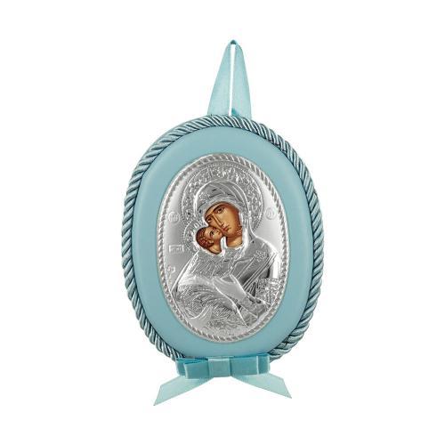 Princelino Γαλάζια Εικόνα Κούνιας Για Αγόρι Από Ασήμι MA/DM1110-LC