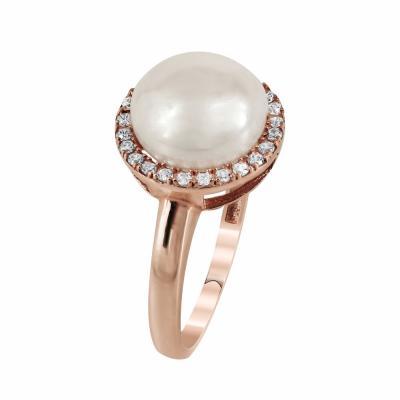 Δαχτυλίδι Mε Μαργαριτάρι Από Ροζ Χρυσό Κ14 DX83992