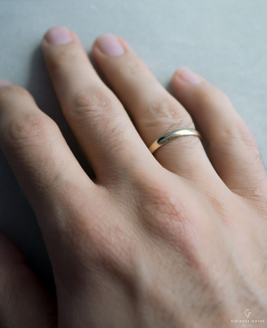 ανδρική βέρα γάμου