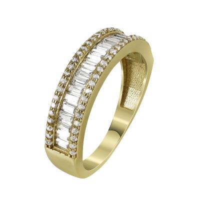 Μισόβερο Δαχτυλίδι Από Κίτρινο Χρυσό Κ14 DX97536