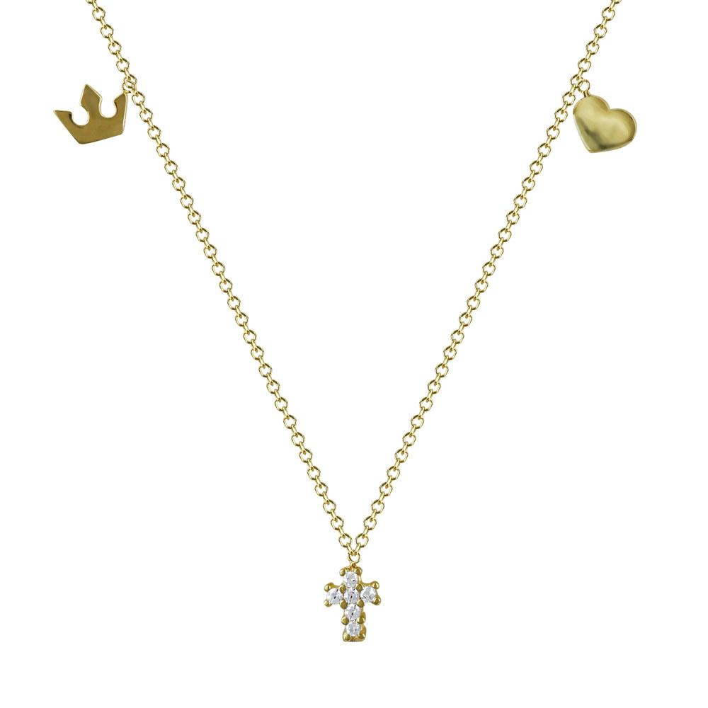 Κολιέ Με Σταυρουδάκι Από Κίτρινο Χρυσό Κ14 KL92967  67a270374f6
