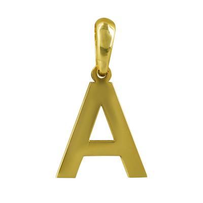 """Μονόγραμμα Μενταγιόν """"Α"""" Από Κίτρινο Χρυσό Κ14 MG168"""