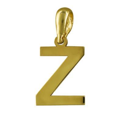 """Μονόγραμμα Μενταγιόν """"Z"""" Από Κίτρινο Χρυσό Κ14 MG167"""