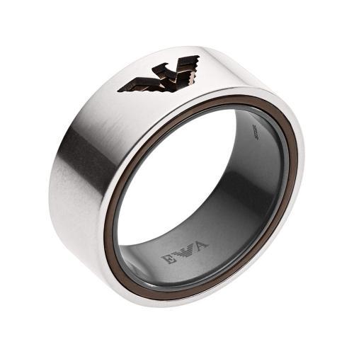 EMPORIO ARMANI Αντρικό Δαχτυλίδι Από Ατσάλι EGS2470040