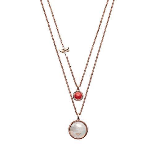 EMPORIO ARMANI Γυναικείο Κολιέ Από Ροζ Επιχρυσωμένο Ατσάλι EGS2565221