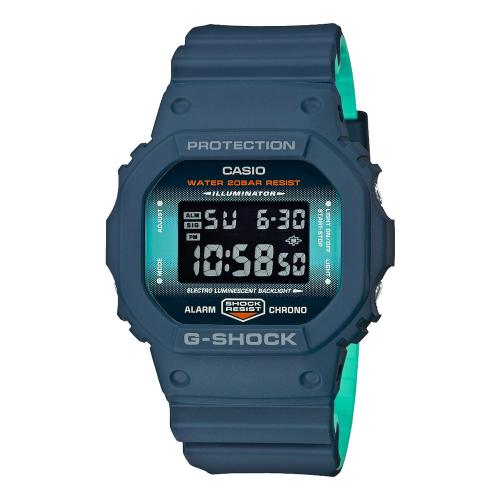 CASIO G-SHOCK Light Blue Rubber Strap DW-5600CC-2ER