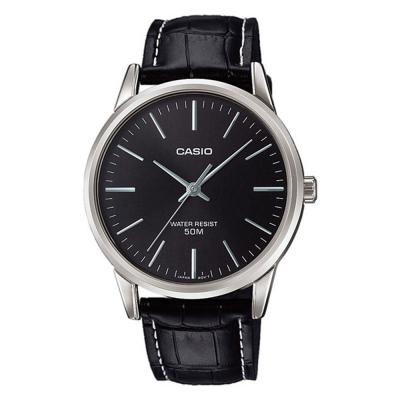 CASIO Collection Black Leather Strap MTP-1303PL-1FVEF