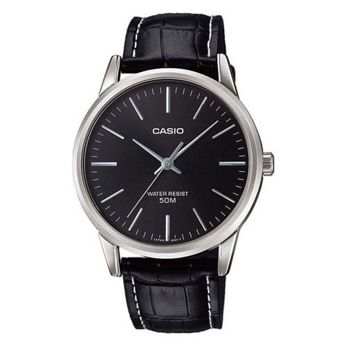 CASIO Collection Black Leather Strap MTP-1303PL-1FVEF