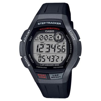 CASIO Collection Black Rubber Strap WS-2000H-1AVEF