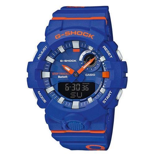 CASIO G-SHOCK Bluetooth Blue Rubber Strap GBA-800DG-2AER