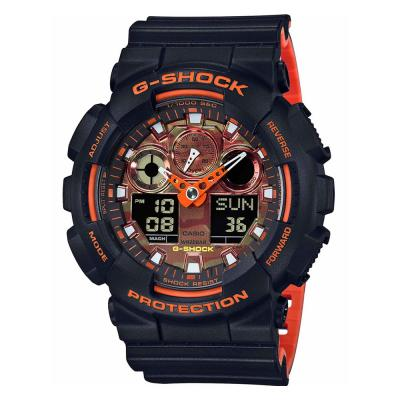 CASIO G-Shock Black Rubber Strap GA-100BR-1AER