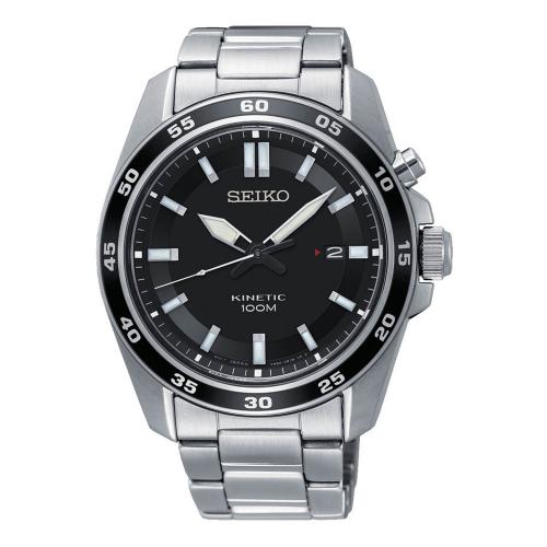 SEIKO Kinetic Silver Stainless Steel Bracelet SKA785P1