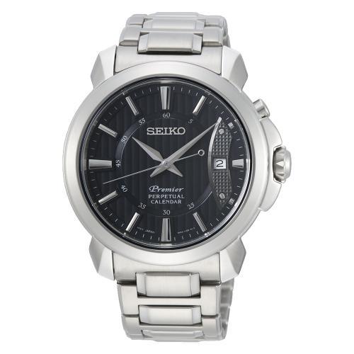 SEIKO Premier Perpetual Stainless Steel Bracelet SNQ159P1
