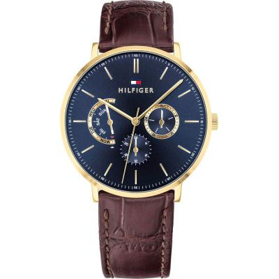 TOMMY HILFIGER Dane Brown Leather Strap 1710376