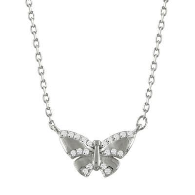 Μενταγιόν Με Πεταλούδα Από Ασήμι M432