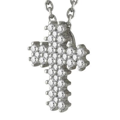 Σταυρός Γυναικείος Aπό Ασήμι 925 Με Πέτρες ST2500