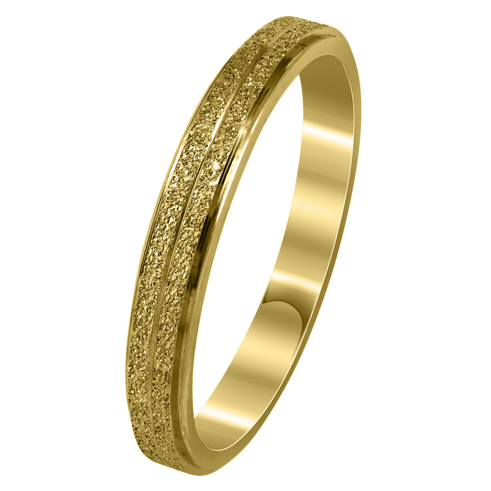 Aσημένια Βέρα Γάμου Κίτρινη Επιχρυσωμένη WRS269