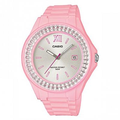 CASIO Collection Crystals Pink Rubber Strap LX-500H-4E4VEF
