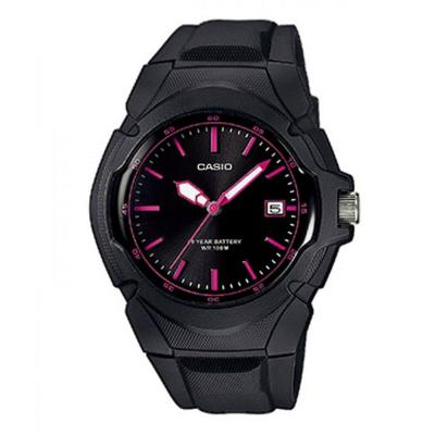 CASIO Collection Black Rubber Strap LX-610-1A2VEF