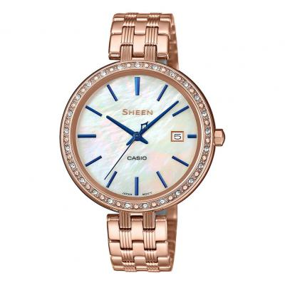 CASIO Sheen Crystals Rose Gold Stainless Steel Bracelet SHE-4052PG-2AUEF