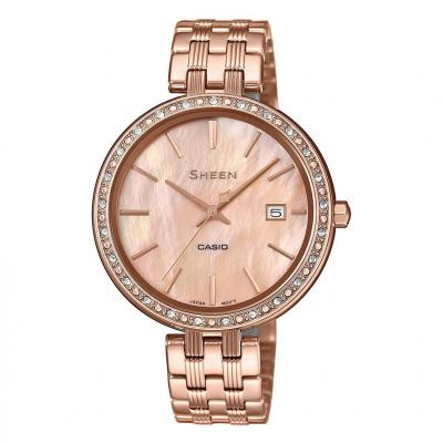 CASIO Sheen Crystals Rose Gold Stainless Steel Bracelet SHE-4052PG-4AUEF