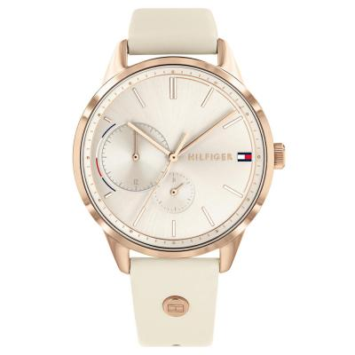 Tοmmy HILFIGER Casual Beige Leather Strap 1782022