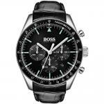 HUGO BOSS Trophy Black Leather Strap 1513625