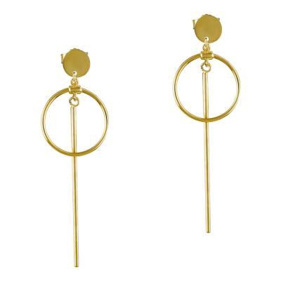 Σκουλαρίκια Κρεμαστά Από Κίτρινο Χρυσό K14 SK865