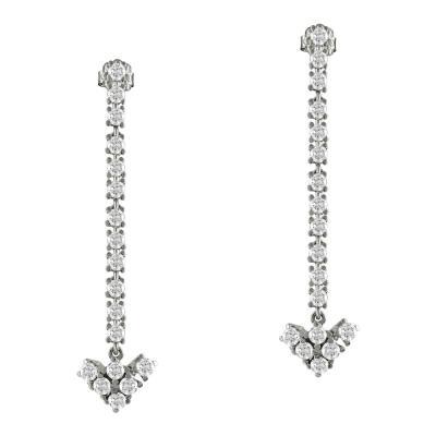 Σκουλαρίκια Με Ημιπολύτιμες Πέτρες Από Λευκόχρυσο K18 SK836