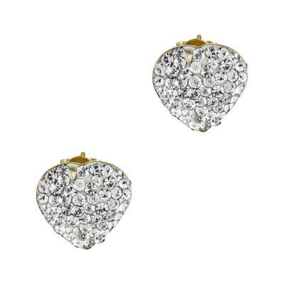 Σκουλαρίκια Καρδούλες Από Κίτρινο Χρυσό Κ14 SK896