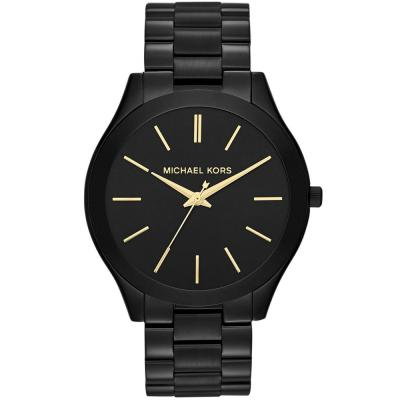 MICHAEL KORS Slim Runway Black Stainless Steel Bracelet MK3221