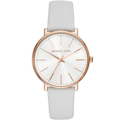 MICHAEL KORS Pyper Crystals White Leather Strap MK2800