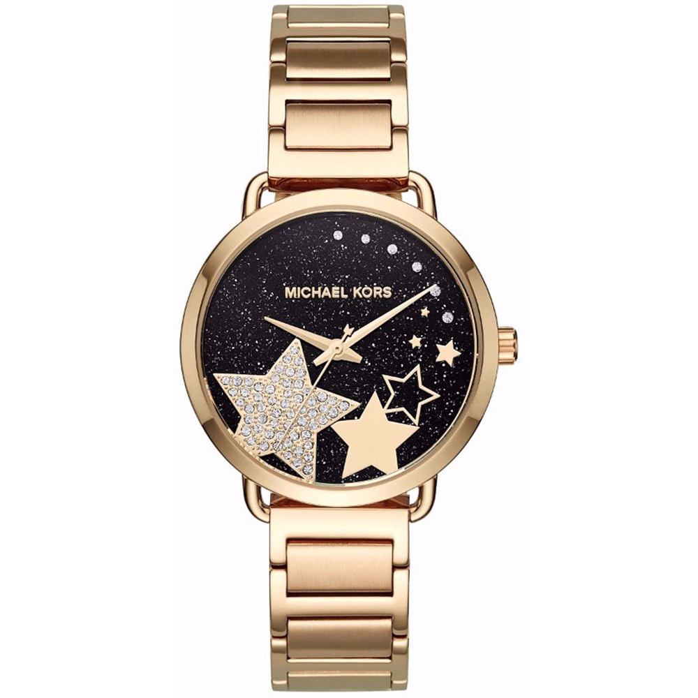 MICHAEL KORS Portia Crystals Gold Stainless Steel Bracelet MK3794
