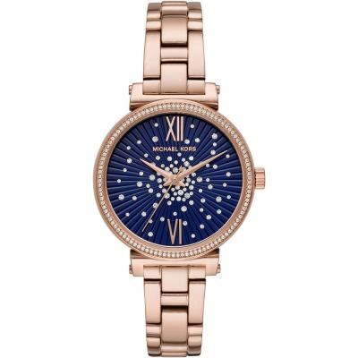 MICHAEL KORS Sofie Crystals Rose Gold Stainless Steel Bracelet MK3971