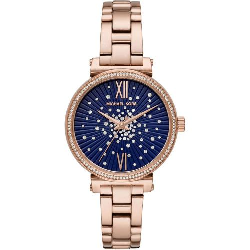 MICHAEL KORS Sofie Crystals Rose Gold Stainless Steel Bracelet MK3971
