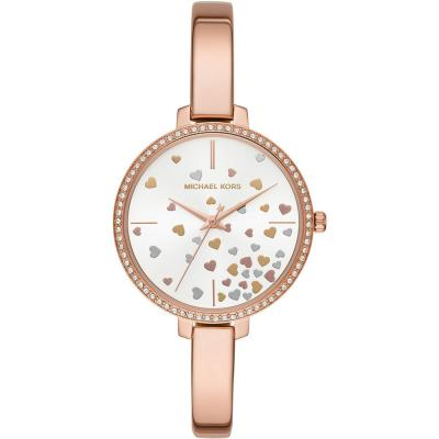 MICHAEL KORS Jaryn Crystals Rose Gold Stainless Steel Bracelet MK3978