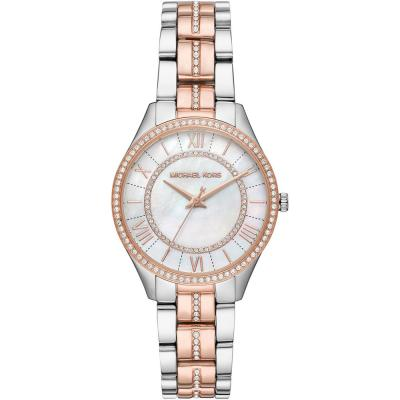 MICHAEL KORS Lauryn Crystals Two Tone Stainless Steel Bracelet MK3979