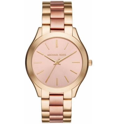 MICHAEL KORS Slim Runway Rose Gold Stainless Steel Bracelet MK3493