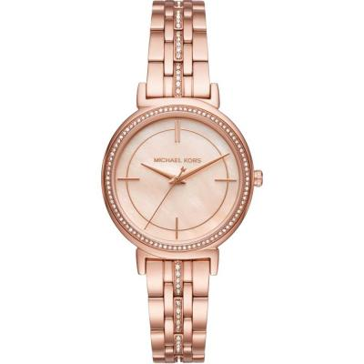 MICHAEL KORS Norie Crystals Rose Gold Stainless Steel Bracelet MK3643