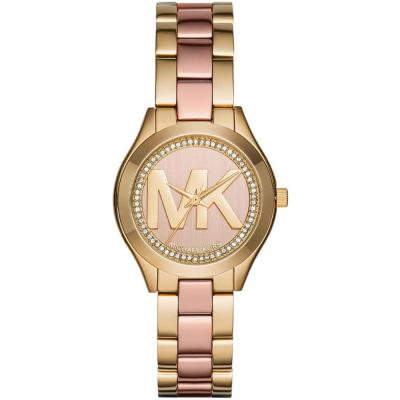 MICHAEL KORS Runway Slim Two Tone Gold Stainless Steel Bracelet MK3650