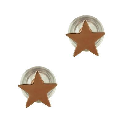 Παιδικά Σκουλαρίκια Αστέρια Από Ροζ Χρυσό Κ9 PSK395