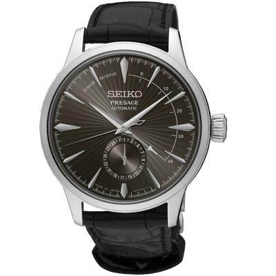 SEIKO Presage Automatic Black Leather Strap SSA345J1