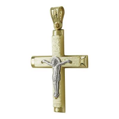 Σταυρός Βάπτισης Ανδρικός Σε Κίτρινο Χρυσό 14 Καρατίων ST2514