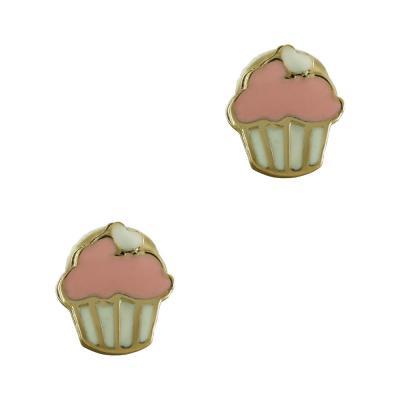 Παιδικά Σκουλαρίκια Παγωτό Από Κίτρινο Χρυσό Κ9 PSK390