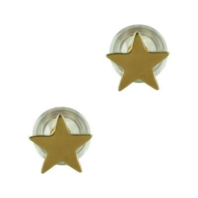 Παιδικά Σκουλαρίκια Με Αστέρια Από Κίτρινο Χρυσό Κ9 SK396